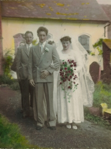 Grandmother on her wedding day in 1953
