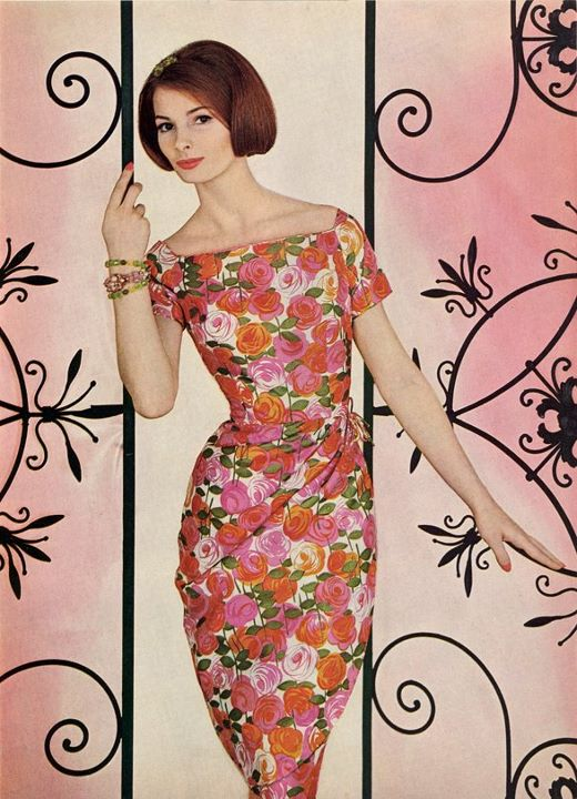 McCall's 1961 floral dress