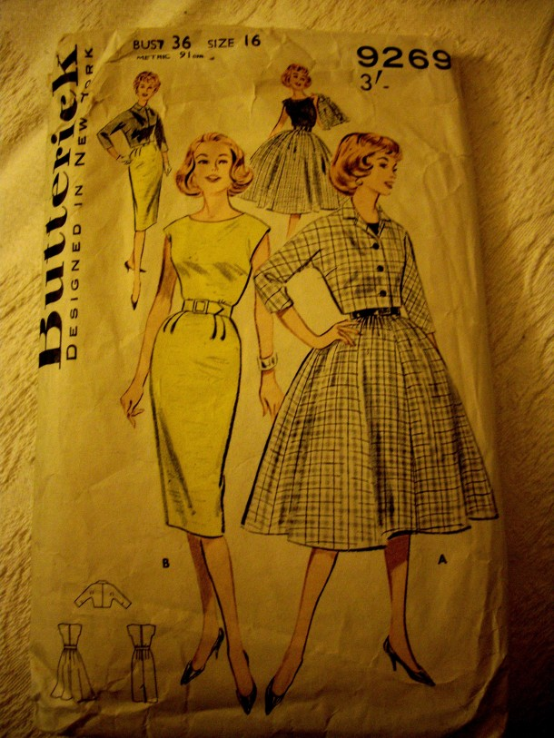 Early 1960s Butterick dress pattern