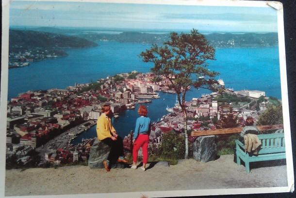 View over Bergen 1958