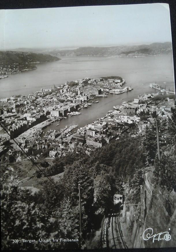 Bergen postcard 1958