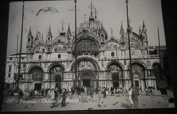 Postcard showing Venice