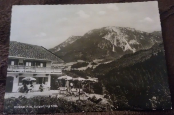 Postcard showing Ruhpolding, Germany