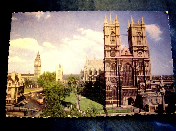Postcard of Westminster Abbey, London