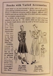 Women in 1940s dresses