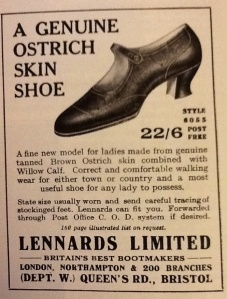 Ostrich skin shoe