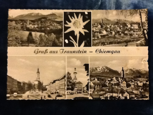 postcard showing Traunstein, Bavaria, Germany